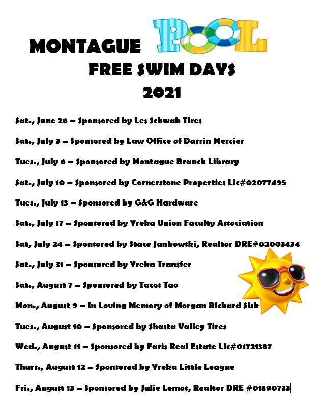 free swim day 2021